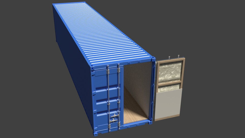 ISO Container 40ft/12.2m High Cube /w Insulation preview image 1