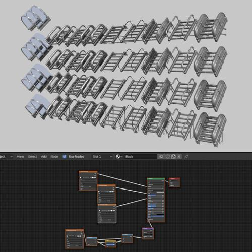 Modular Sci-Fi Stairs (Basic Version) preview image