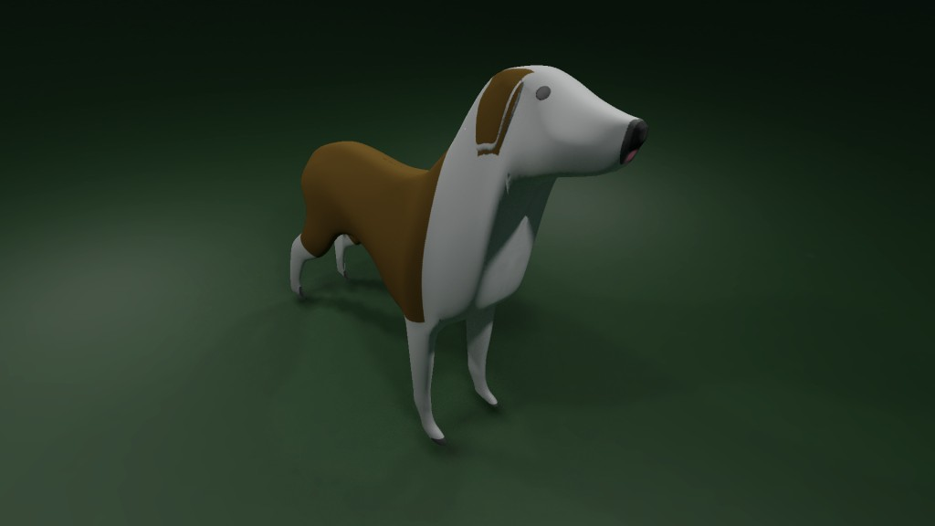 Dog with bake textures preview image 1