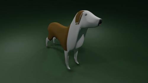 Dog with bake textures preview image