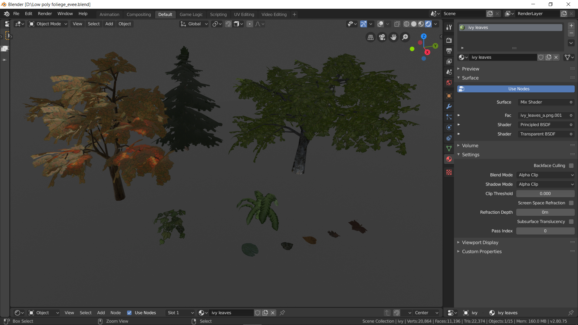 low poly foliage - blendswap #7131 ported to eevee preview image 1