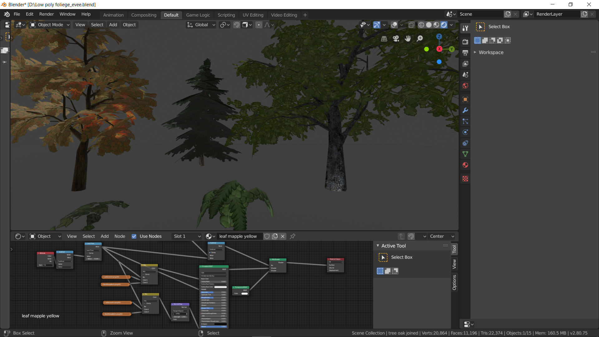 low poly foliage - blendswap #7131 ported to eevee preview image 2