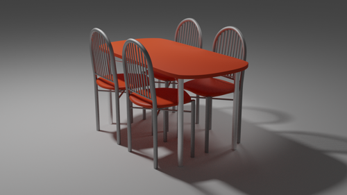 Dining table and chairs preview image