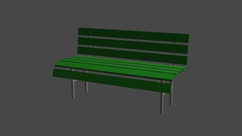 Simple Park Bench preview image