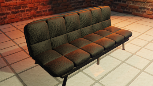 Black Futon with PBR fabric texture  preview image