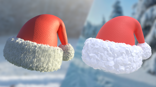 christmas santa hat (realistic and stylized) preview image