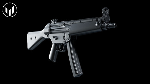 MP5 with disassembly (highpoly) preview image