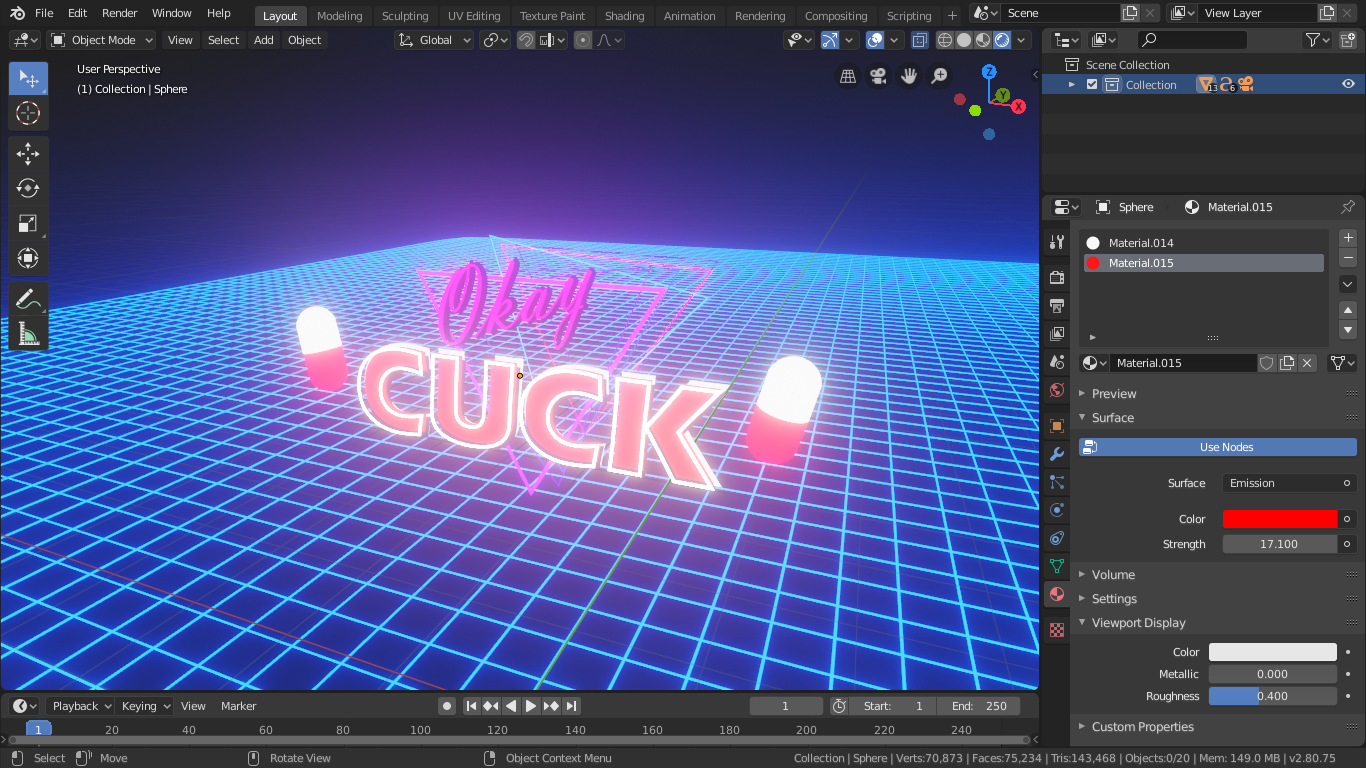 OK CUCK (Synthwave template) preview image 2