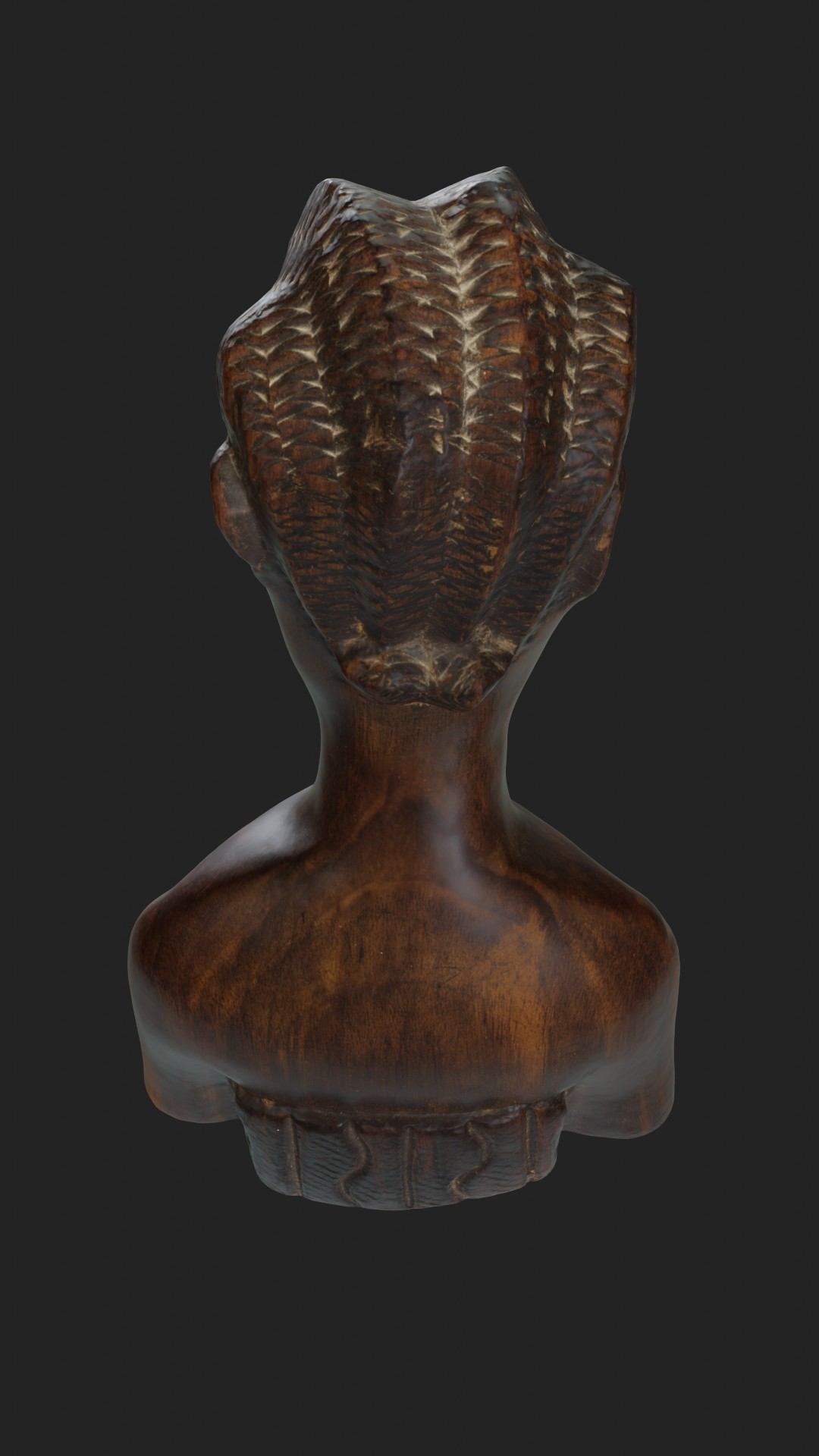 African wooden figurine preview image 2