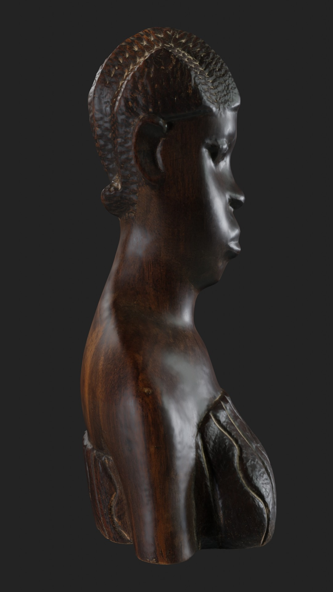 African wooden figurine preview image 3
