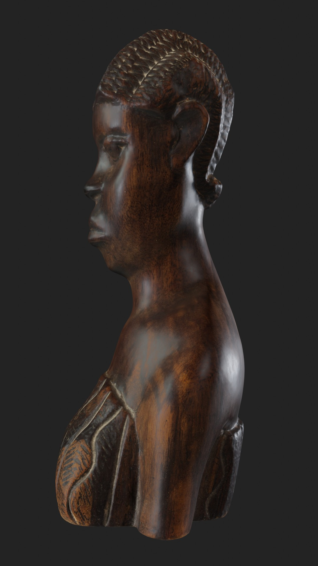 African wooden figurine preview image 4