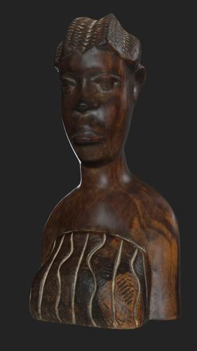 African wooden figurine preview image