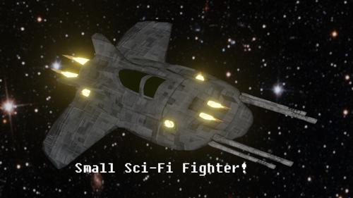 Small Sci-Fi Fighter preview image