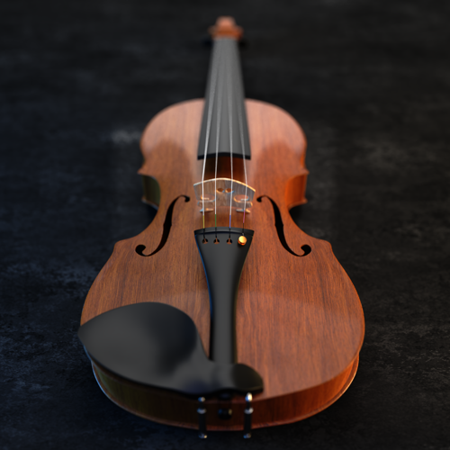 Realistic Violin  preview image