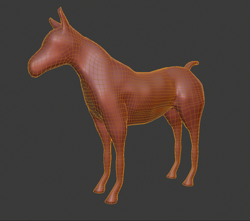 Base Mesh Horse preview image