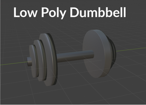 Low Poly Dumbbell preview image