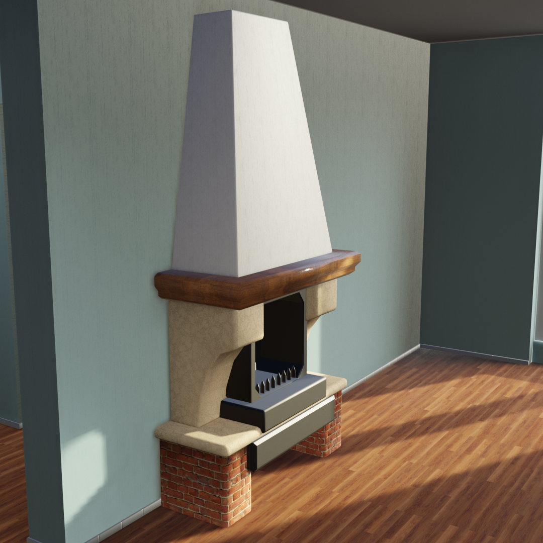 UV unwrapped fireplace preview image 1
