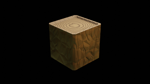 Wood Cube Eevee [just nodes] preview image