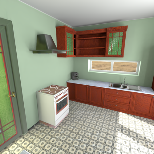 Lightmapped kitchen preview image