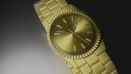 golden rolex clock preview image