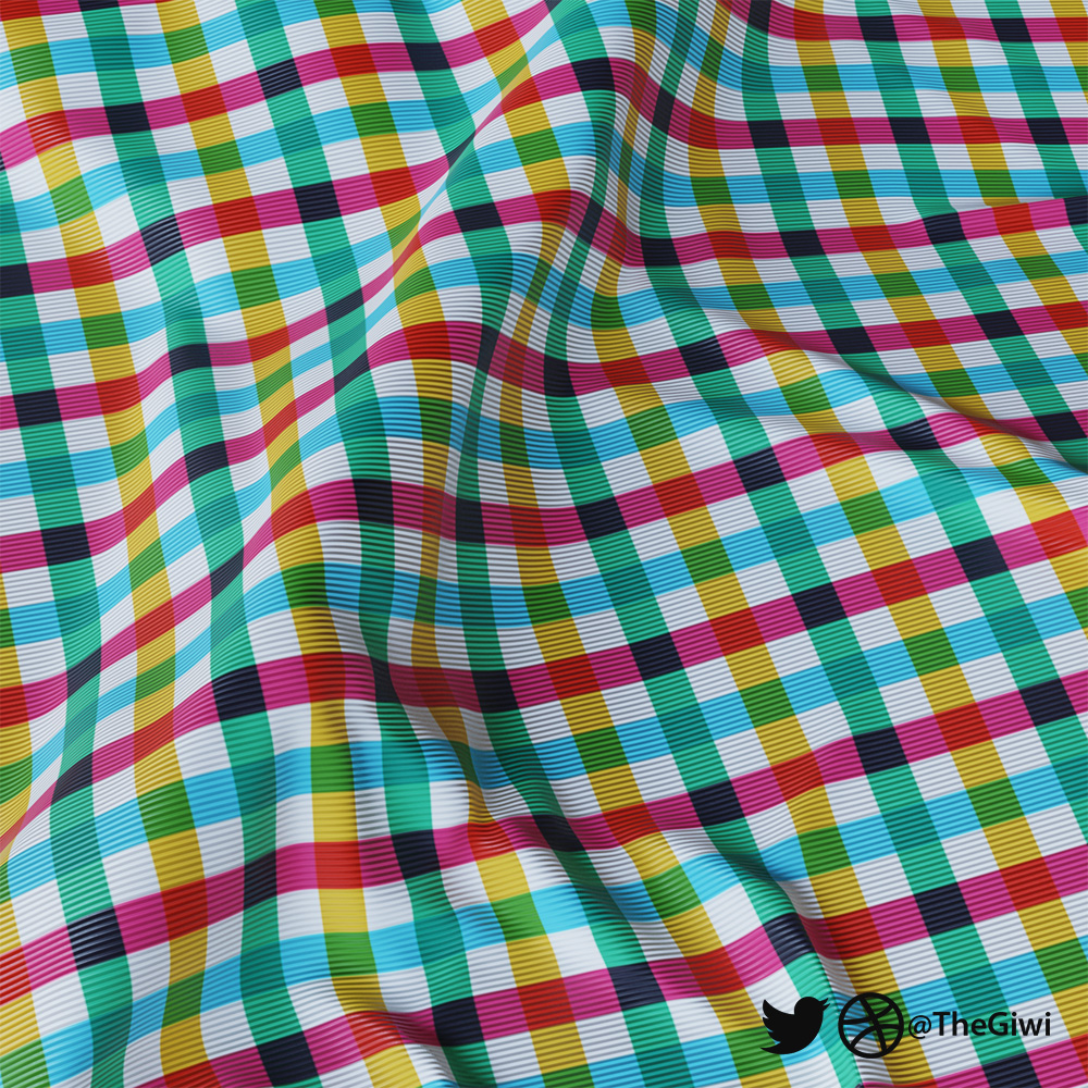 Procedural checkered fabric material [ Blender 2.79 version ] preview image 2