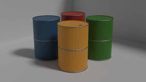 Low Poly Barrels preview image