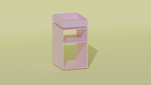 Simple Modern Bedside Table  preview image