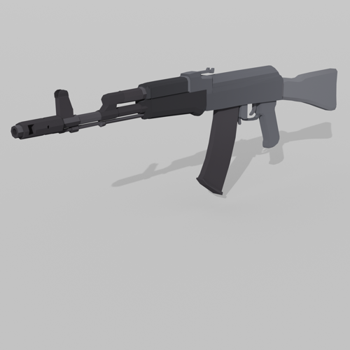 Game Ready - Low Poly AK74M w/ Diffuse preview image