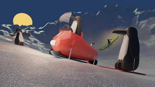 Penguin Ski Trip preview image