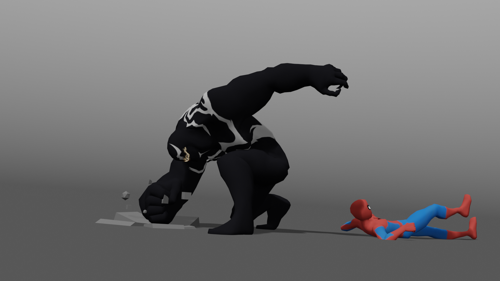 Spiderman and Venom animation rigs preview image