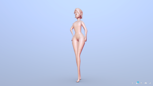 Mary Female Base Mesh preview image