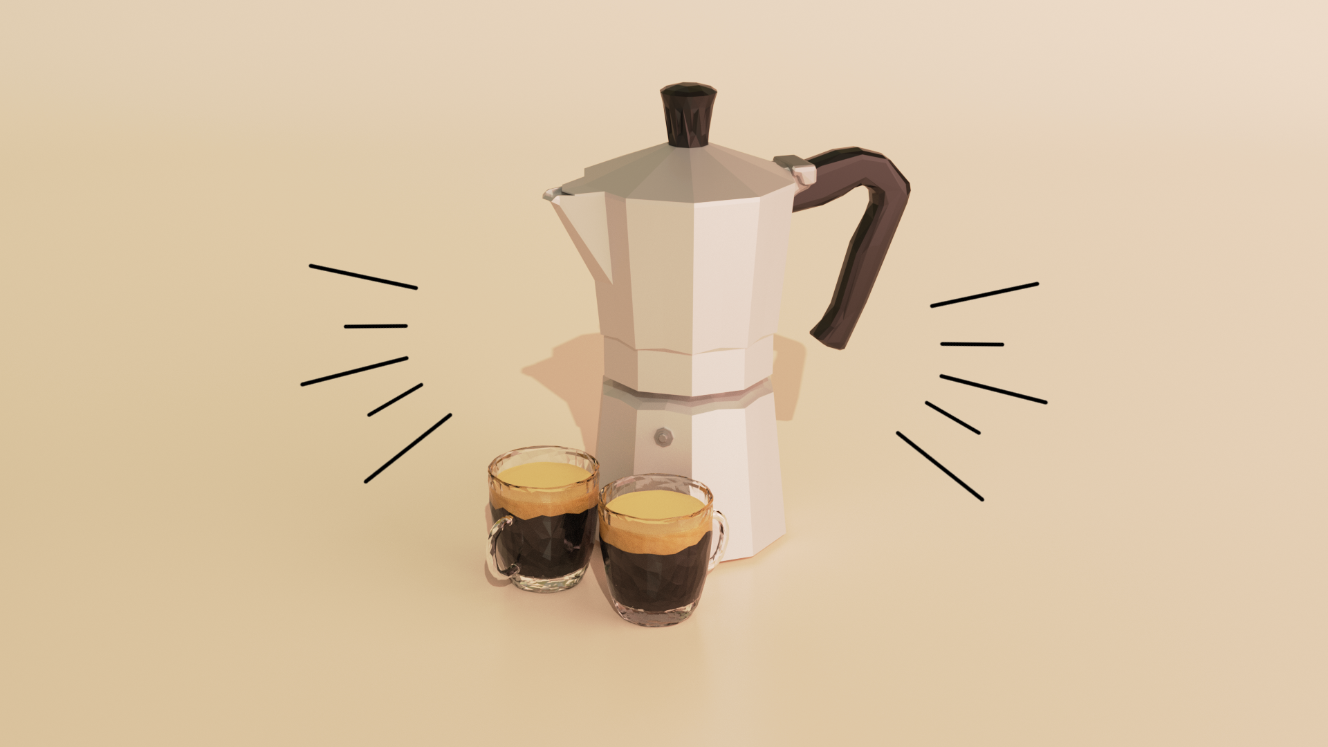 Low Poly Coffee preview image 3