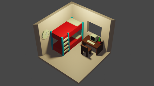 lowpoly room preview image
