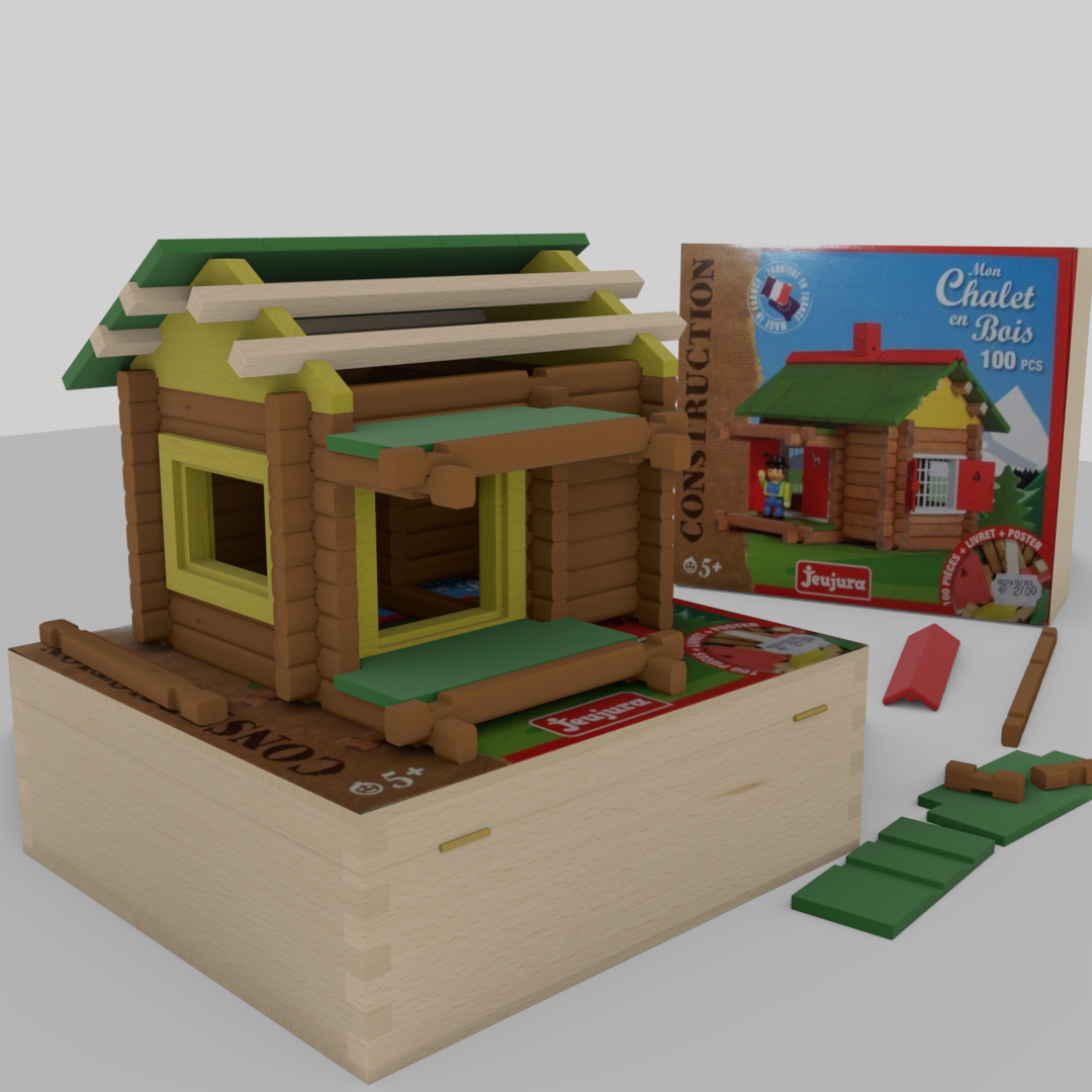 Wooden building game Swiss chalet preview image 6