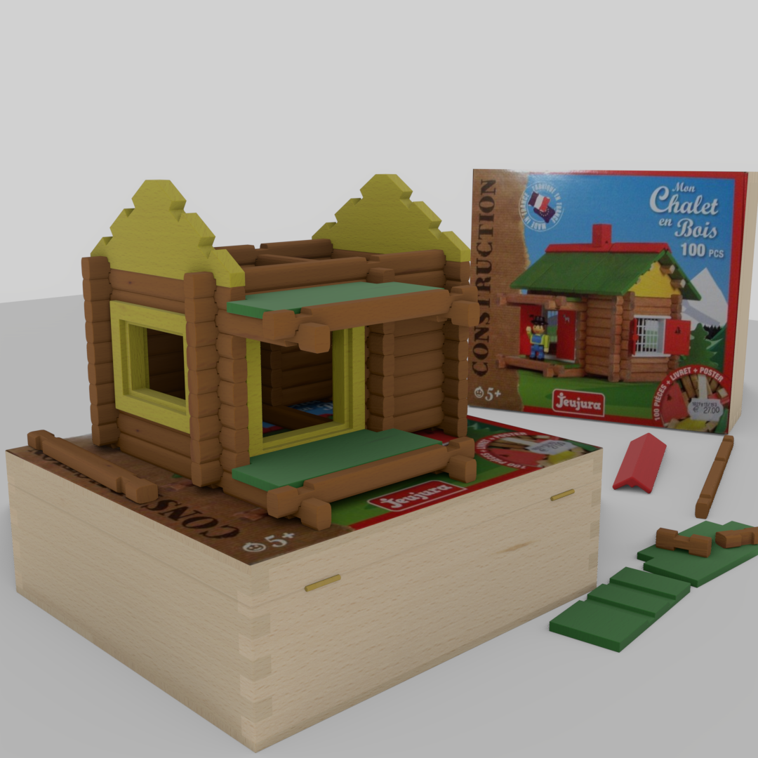 Wooden building game Swiss chalet preview image 5