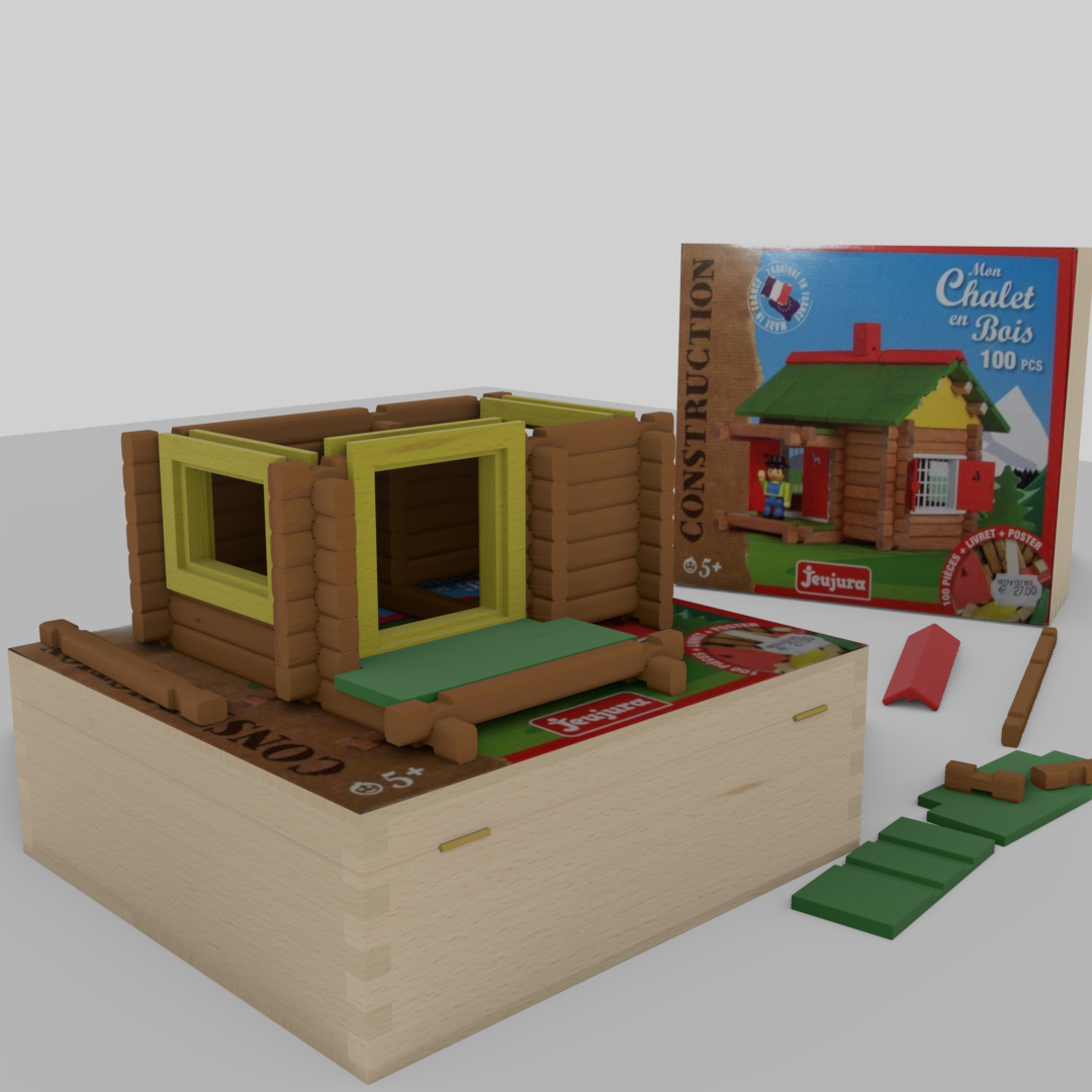 Wooden building game Swiss chalet preview image 4