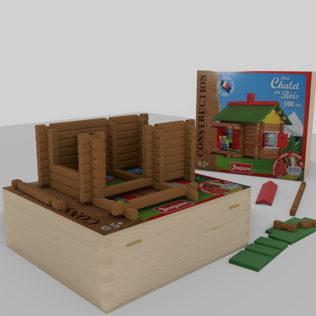 Wooden building game Swiss chalet preview image 3