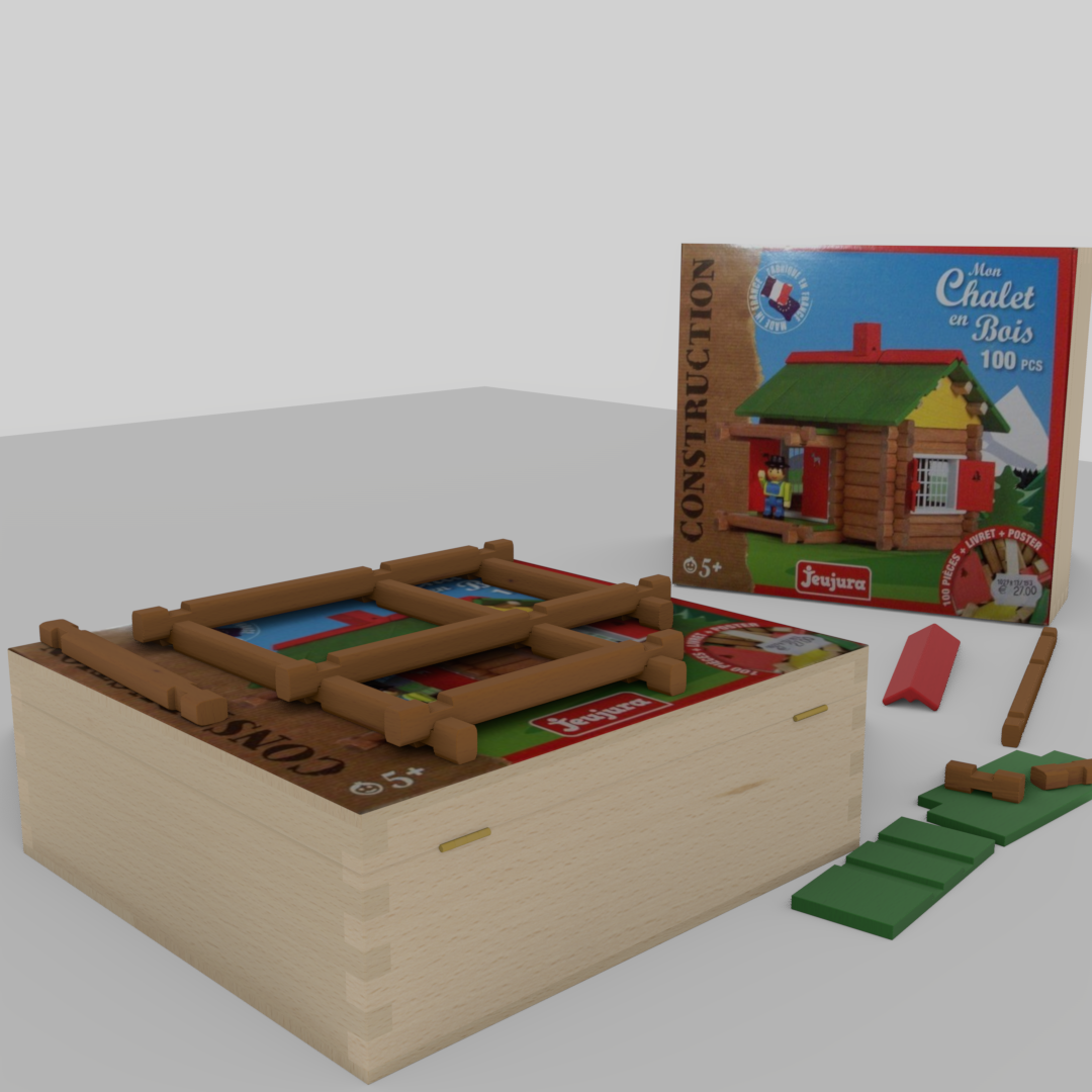 Wooden building game Swiss chalet preview image 2