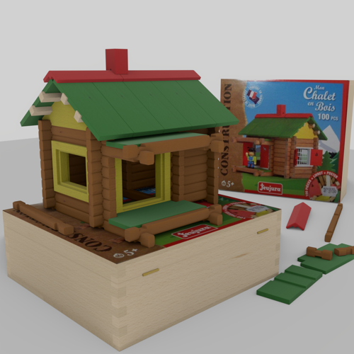 Wooden building game Swiss chalet preview image