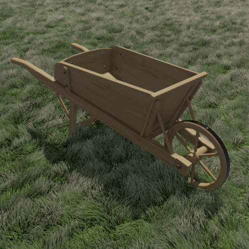 Wooden wheelbarrow preview image