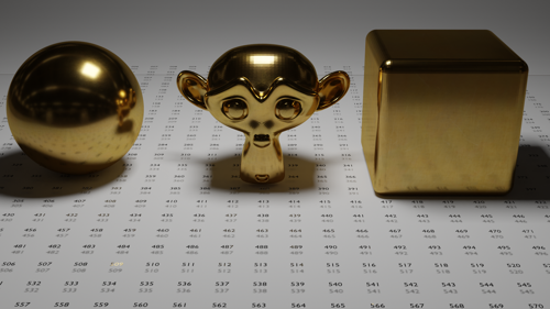 Fine Gold PBR Material preview image