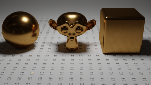 Polished Brass PBR Material preview image