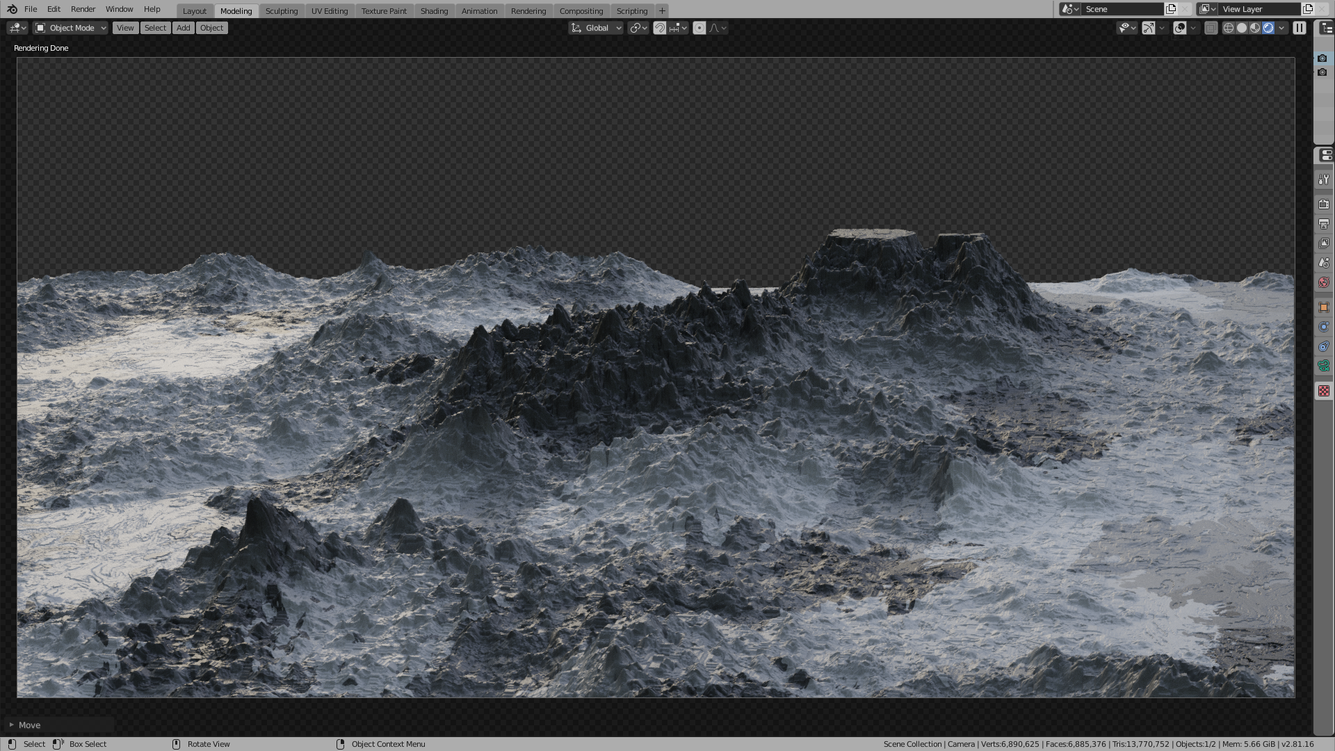 Snowy Mountain Procedural Material preview image 1