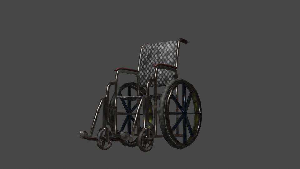 WheelChair (LOW-POLY) preview image 1