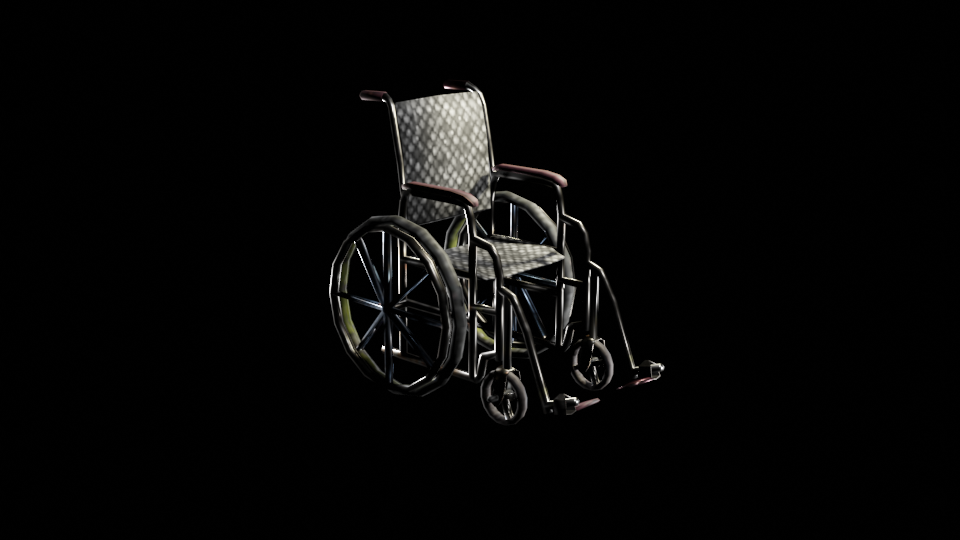 WheelChair (LOW-POLY) preview image 3