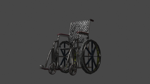 WheelChair (LOW-POLY) preview image