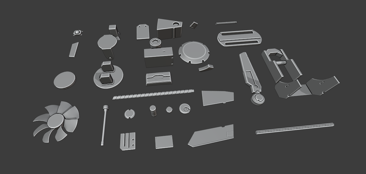 Hardsurface Kitbashing set (SubD Ready) preview image 1