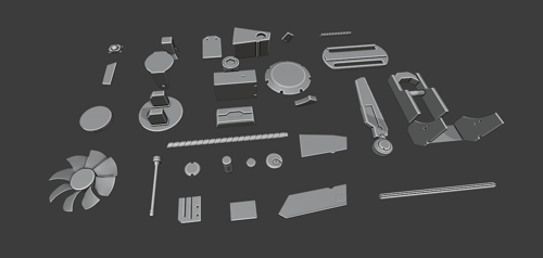 Hardsurface Kitbashing set (SubD Ready) preview image