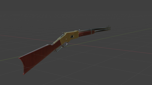 Winchester 1886 Yellowboy Trapper (LOW-POLY) preview image