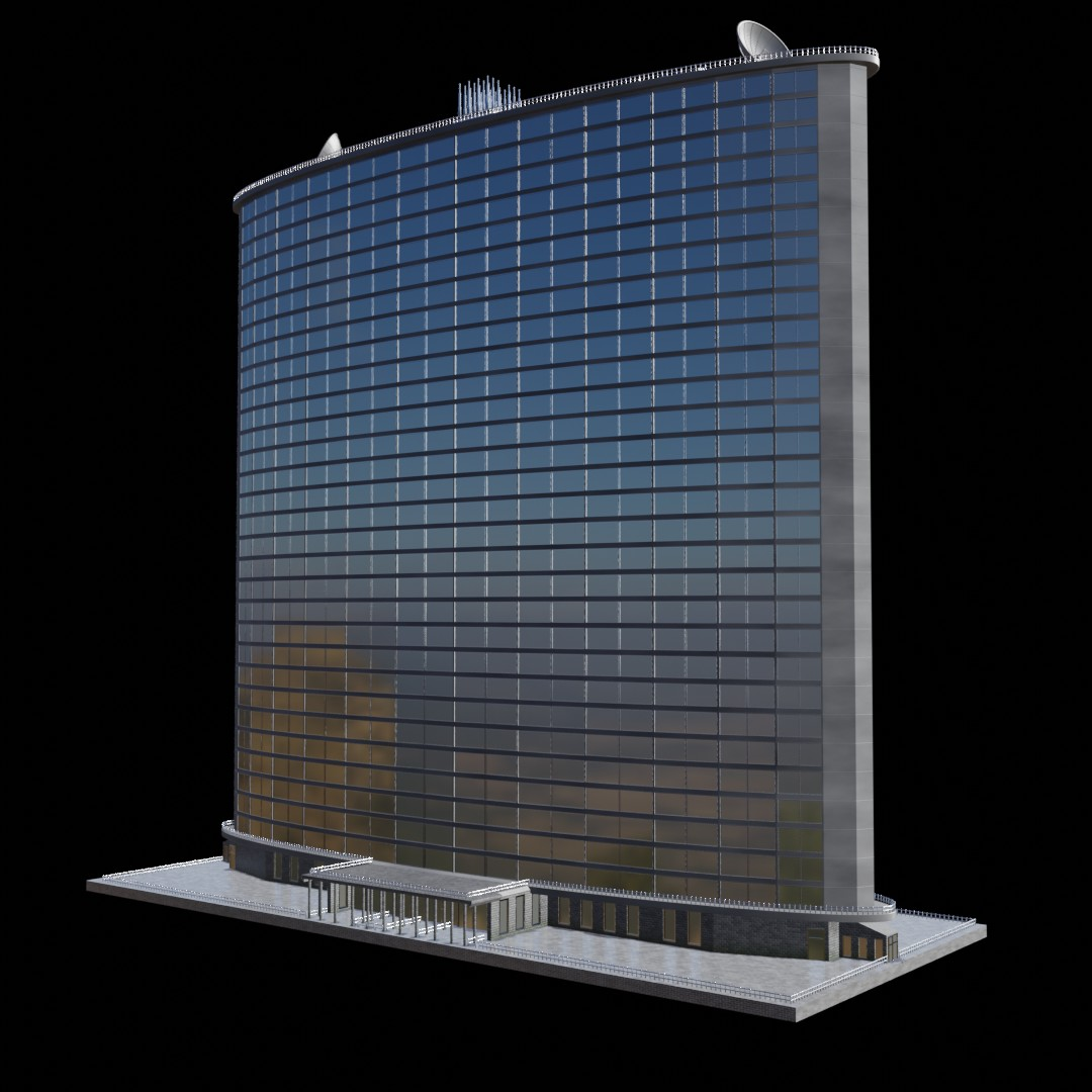 High-rise building (no textures needed) in EEVEE preview image 1